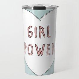 Girl power heart illustration - Girl Gang Prints Travel Mug