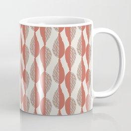 Copper Leaf Stripe Coffee Mug