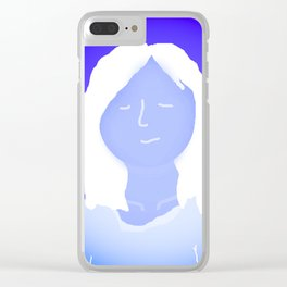 Blue In The Face Alien Clear iPhone Case