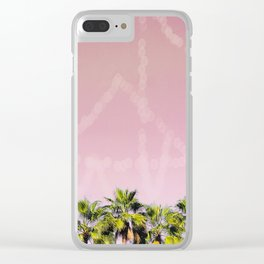 Row of Palms Clear iPhone Case