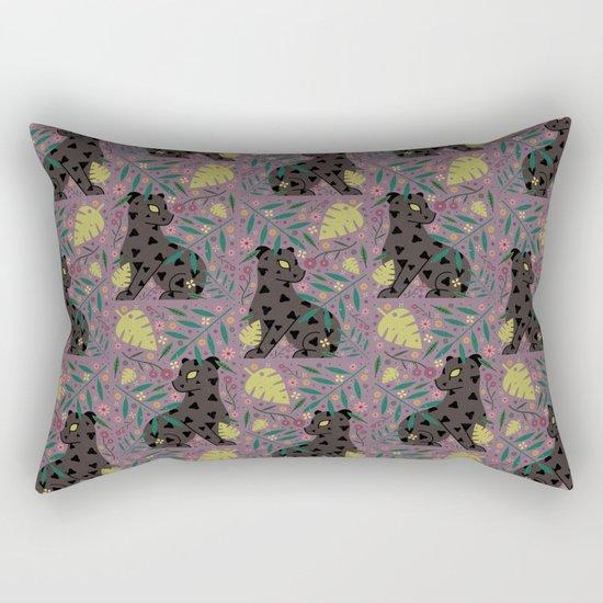 Black Jaguar Rectangular Pillow