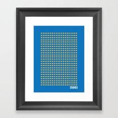 (500) Framed Art Print