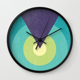 Midnight in The Desert - Retro Circles Wall Clock