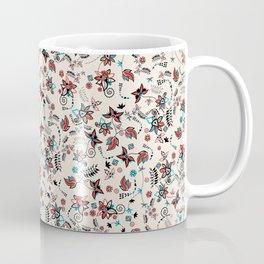 Folky Floral Print Coffee Mug