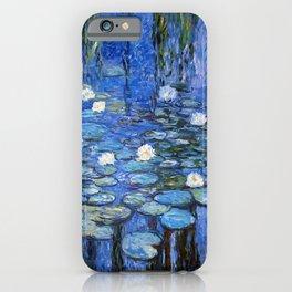 waterlilies a la Monet iPhone Case