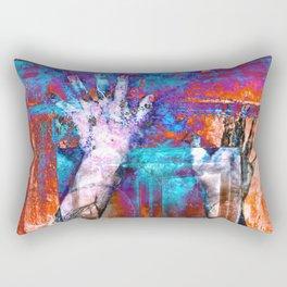 Walk through walls Rectangular Pillow