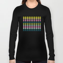 Triangle Pattern in Cheerful Bright Holiday Colors Long Sleeve T-shirt