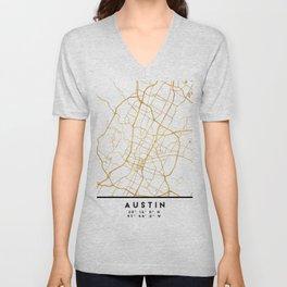 AUSTIN TEXAS CITY STREET MAP ART Unisex V-Neck