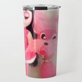 sakura and her pink dog Travel Mug