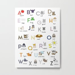 Thumbkins ABC's Metal Print