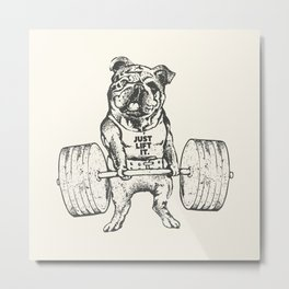 English Bulldog Lift Metal Print
