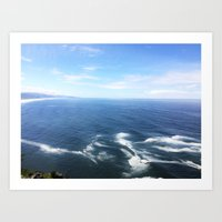 Pacific Waves Art Print