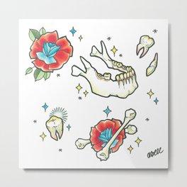 Jaw Bone Metal Print