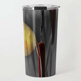 Full moon and bulrushes Travel Mug