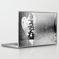 snowboard Laptop & iPad Skins featuring Love Snow by suzyoconnor