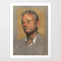 bill murray Art Prints featuring Bill Murray by Sam Spratt