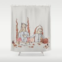 thranduil Shower Curtains featuring [ The Hobbit ] King Thranduil Legolas Greenleaf by Vyles