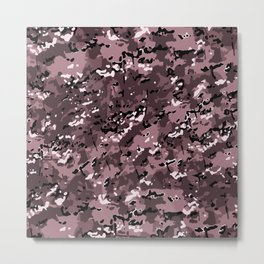 Puce Pink Popular Multi Camo Pattern Metal Print