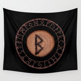Berkano Elder Futhark Rune secrecy, silence, safety, mature wisdom, dependence, female fertility Wall Tapestry