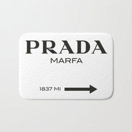 PradaMarfa sign Bath Mat