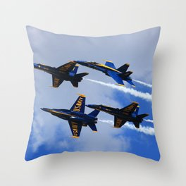 US Navy Blue Angels Throw Pillow