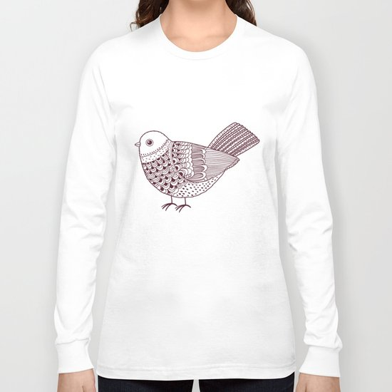 Retro Pigeon Long Sleeve T-shirt