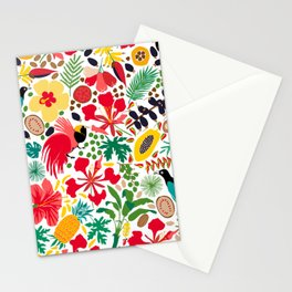 tropical botanical Stationery Cards