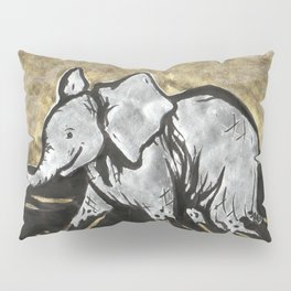 Happy Little Elephant Pillow Sham