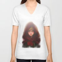 red hood V-neck T-shirts featuring Red Hood by D'Frikki
