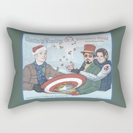 Superheroic Seasons Greetings (Chestnuts Roasting) Rectangular Pillow