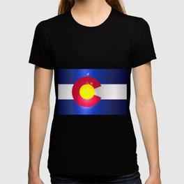 Colorado State Flag Glow T-shirt