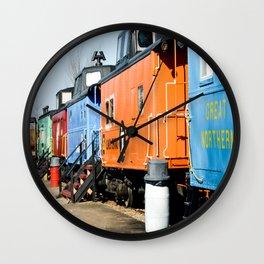 Railroad Cars Wall Clock