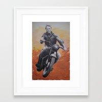 steve mcqueen Framed Art Prints featuring Steve McQueen by cocksoupart