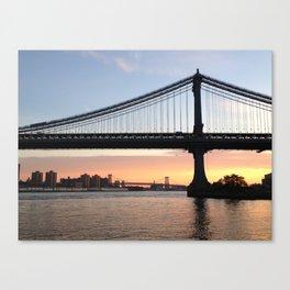 Manhattan Bridge at Sunrise Canvas Print