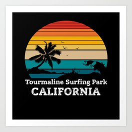 Tourmaline Surfing Park CALIFORNIA Art Print