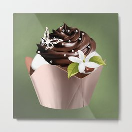 Holiday Cupcakes Metal Print