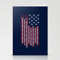 patriots Stationery Cards featuring Native Patriots by Steven Toang