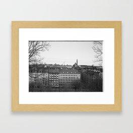 Stockholm rooftops Framed Art Print