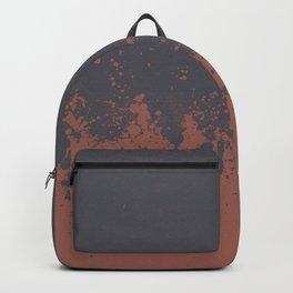 Splash peach grey Backpack