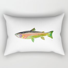 Green Trout Rectangular Pillow