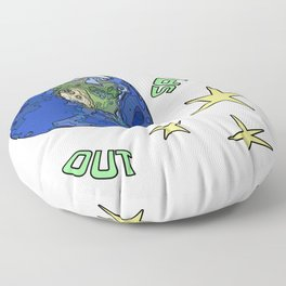 Spaced Out Earth Floor Pillow