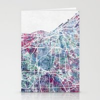 cleveland Stationery Cards featuring Cleveland map by MapMapMaps.Watercolors