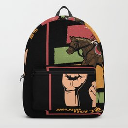 Horse Horse Racing Equestrian Riding Gift Backpack