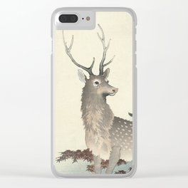 Deer by Ohara Koson Clear iPhone Case