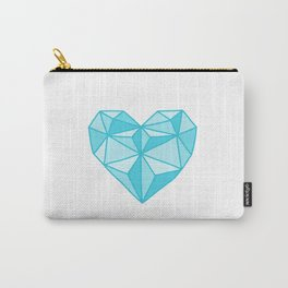 Geometric Diamond Heart - Topaz Carry-All Pouch