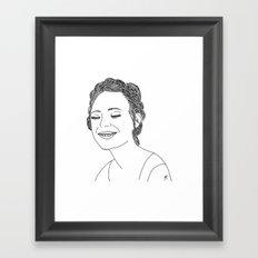 Elle Fanning Framed Art Print