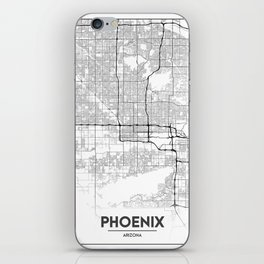 Minimal City Maps - Map Of Phoenix, Arizona, United States iPhone Skin