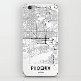 Minimal City Maps - Map Of Phoenix, Arizona, United States iPhone Skin