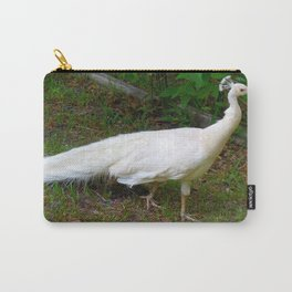 Albino Peacock Carry-All Pouch