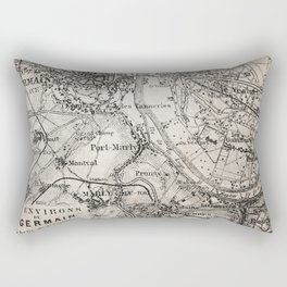 Vintage Paris old retro map Rectangular Pillow